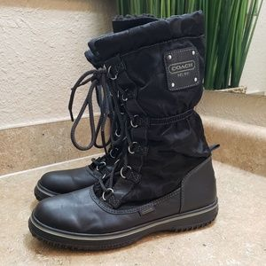 Coach Shaine Signature Lace Up Boots